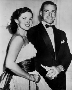 Shirley Temple pictured with her husband Charles in April 1950, months before their wedding