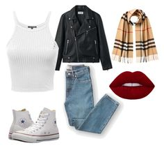 """""""Untitled #3"""" by amjones17 on Polyvore featuring Everlane, Burberry and Converse"""