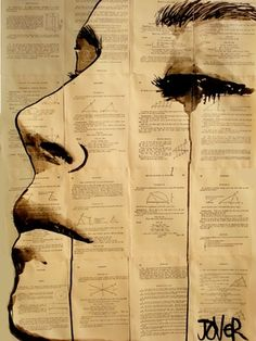 "Saatchi Online Artist Loui Jover; Drawing, ""content"" #art    ---  emotions vs science (?)"