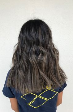 Long Wavy Ash-Brown Balayage - 20 Light Brown Hair Color Ideas for Your New Look - The Trending Hairstyle Ashy Balayage, Hair Color Balayage, Hair Highlights, Ombre Hair, Hair Dye, Light Brown Hair, Dark Hair, Ashy Hair, Ash Brown Hair