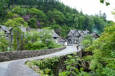 Betws-y-Coed, Wales. This is where I stayed! The most adorable stone village, and a church with beautiful colored-marble columns.