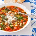 Slow-Cooker Minestrone Cooks Country Video...Also Mama's Pizza.