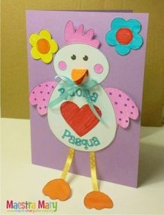 Paper Circle Easter Chick Craft for Kids Easter Activities, Craft Activities For Kids, Preschool Crafts, Valentine's Day Crafts For Kids, Art For Kids, Diy And Crafts, Easter Art, Easter Crafts, Diy Ostern