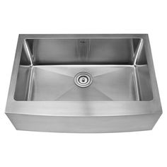 Update the heart of your home in sleek style with this deep farmhouse sink, perfect for rinsing dinner dishes and filling stockpots.