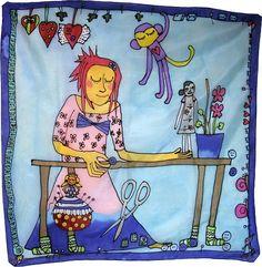 Šatka -obrázok do detskej izby na zarámovanie Silk Painting, Princess Peach, Detail, Fictional Characters, Fantasy Characters
