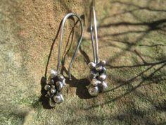 Fine Silver Cluster Earrings
