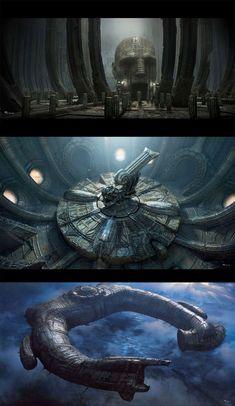 Várias Concept Arts do filme Prometheus Alien Vs Predator, Alien Film, Alien Art, Les Aliens, Aliens Movie, Arte Sci Fi, Sci Fi Art, Xenomorph, Ufo