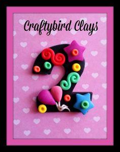 Happy Bithday Polymer Clay Milestone by BeFairyCreative on Etsy, $6.00