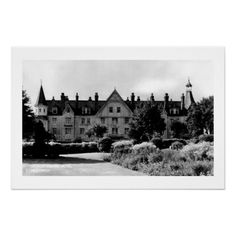 Vintage black and white photo Worcestershire Hotel Droitwich prints and postcards
