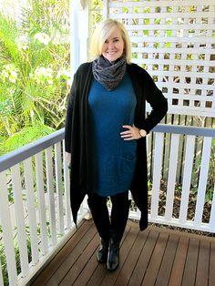 Metalicus tank dress | long cardi | skirt  (worn as scarf) | tights | Zoe Kratzmann boots | Samantha Wills ring