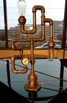 Hey, I found this really awesome Etsy listing at https://www.etsy.com/listing/495188829/industrial-steam-punk-dual-light-pipe