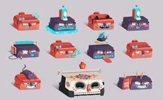 Stickers Facebook by Julian Ardila, via Behance