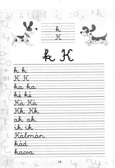Írott betűk - kisferenc.qwqw.hu Alphabet Worksheets, Home Learning, Coloring Pages, Album, Teaching, Writing, Education, School, Quote Coloring Pages