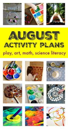 August activity plans :: summer bucket list ideas :: things to do with kids in August :: seasonal activity calendar :: summer screen free play ideas
