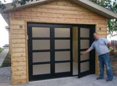 Within the past ten years that unfavorable view of the garage has changed dramatically. Climatizing the garage has ended up being far more than an afterthought. Single Garage Door, Sliding Garage Doors, Modern Garage Doors, Glass Garage Door, Garage Door Opener, Small Garage Door, Diy Garage Door, Garage Art, Garage Door Windows