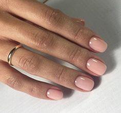Nails Sencillas Ballerina 34 New Ideas Sns Nails, Nude Nails, Nail Nail, Acrylic Nails, Nail Polishes, Gel Manicures, Red Nail, Neutral Nails, Stiletto Nails