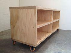 Simple plywood TV unit