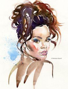 'Rihanna' by Barbara Spurll - Illustration from Canada