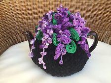 NEW Handmade Tea Cozy Wisteria Flowers From Ukrainian Designer