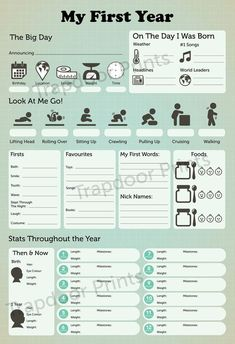 Similar Items Like My First Year Baby Infographic Digital File. - Similar Items Like My First Year Baby Infographic Digital File. For milestones of babies first year - Baby Infographic, Baby Book Pages, Scrapbook Bebe, Baby Girl Scrapbook, Cool Baby, Fantastic Baby, Baby Journal, Babies First Year, First Year Baby Book