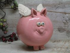 When Pigs Fly Is This Cute Or What Piggy Bank Hand Made