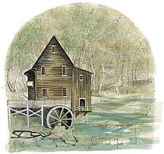 "P Buckley Moss ""Glade Creek Grist Mill"""