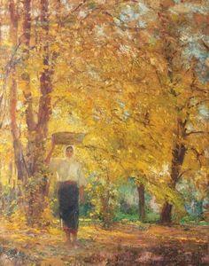 Galerii de arta: Arthur Verona(25 august 1868 - 26 martie 1946 București), pictor român Verona, Great Paintings, Romania, Artsy, Europe, Landscape, Nice, Autumn, Blouse