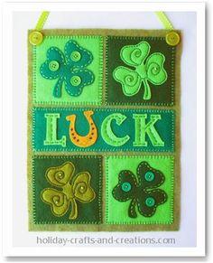 DIY St. Patrick's Day : DIY Felt Craft Projects: Mini Shamrock Banner