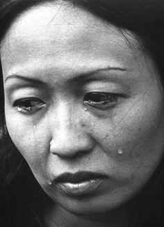 Vietnam War    A South Vietnamese refugee arrives in the US. 1975.