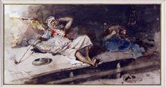 Mariano José Maria Bernardo Fortuny y Carbo (1838-1874); The Opium Smoker; 1867, Museo Poldi Pezzoli, Milan, Italy