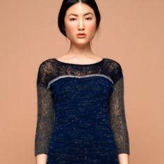 Kleid nachtblau, silber, anthrazit - SABRINA WEIGT