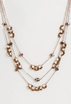 Charlene Copper Bead Necklace, 9-0035996133, Charlene Copper Bead Necklace Main View PDP