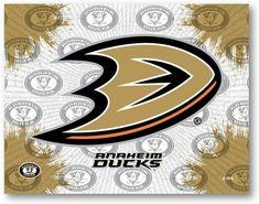 Anaheim Ducks NHL D1 Printed Logo Canvas. Visit SportsFansPlus.com for details.