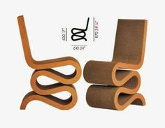 Wiggle Chair Design by Frank O. Gehry http://mymagicalattic.blogspot.com.tr/2014/01/wiggle-chair-design-by-frank-o-gehry.html