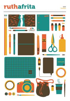 school supplies meets college meets minimalist design