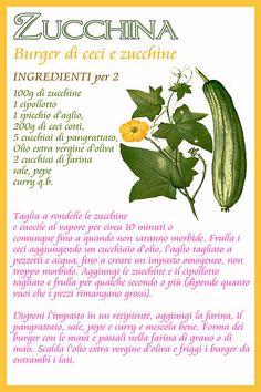 Il Calendario dell'Orto   Ricette Felix Veggie Recipes, Vegetarian Recipes, Healthy Recipes, Vegan Burger Recipe Easy, Herbal Magic, In Natura, Keto Nutrition, Health Eating, Raw Vegan