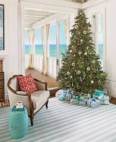 I have been collecting beachy Christmas tree inspiration ideas all year to show off. When I started writing this blog post yesterday I deci...