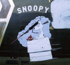 Snoopy nose art on a CH-47 Chinook from the 1st Cav's 228th ASHB. Vietnam, c. 1970.