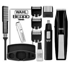 Wahl 5537-1801 Cordless Battery Operated Beard Trimmer with Bonus Ear Nose an…