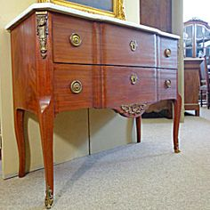 French Antique Mahogany Chest Of Drawers