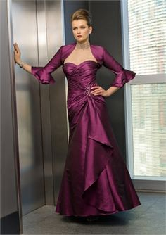 Beaded Sweetheart Wrinkle Mother of the Bride Dresses MBT012