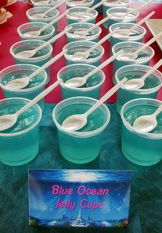 Blue Ocean Jelly Cups... cute dessert idea