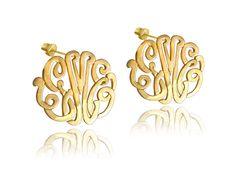 Personalized Handmade Monogram earrings by KetiSorelyDesigns