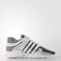 With roots in the original early '90s Equipment running shoes, the new EQT Support ADV series freshly reinterprets running-inspired design in a street style mode. These sneakers feature a two-tone, stripe-patterned upper made of adidas Primeknit. The flexible, breathable material gives your feet a roomier fit in sock-like comfort. Super-soft, molded TPU adds support on the heel, while extended 3-Stripes cross from mid-foot to midsole.