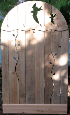 duck and birds recycled cedar art fence and gates