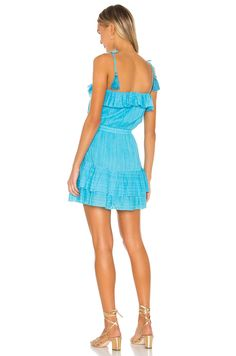 KARINA GRIMALDI Paloma Metallic Dress - We Select Dresses Metallic Mini Dresses, Tiered Skirts, Vacation Dresses, Lace Up Sandals, Cold Shoulder Dress, Shoulder Straps, Designer Dresses, Elastic Waist, Women Wear