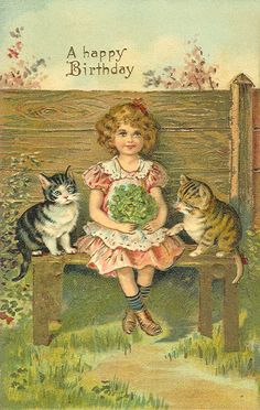 Vintage Cat Postcard 033