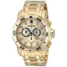 71fee8da218 Relógio Invicta Pro Driver Dourado Masculino - 0074 Especificações  Técnicas  Banhado A Ouro 18k Marca