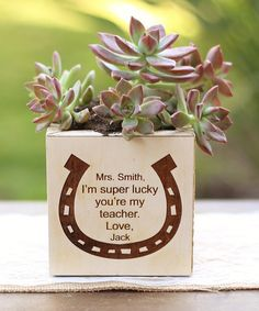 Look what I found on #zulily! 'Lucky' Personalized Planter #zulilyfinds