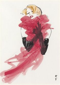 Rene Gruau, Sketch for Dior, circa 1985